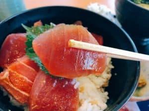 【海鮮まぐろ家】「実質10円」のまぐろ丼!?串木野の「まぐろの日」が最高すぎた。